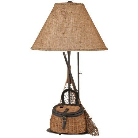 Fly fishing afternoon table lamp