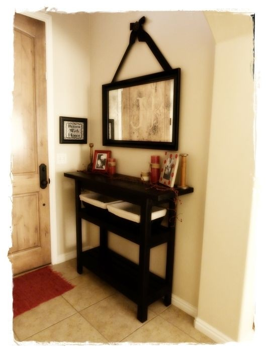 Hall Console Table And Mirror Set