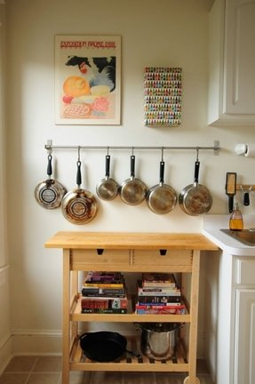 Kitchen Island With Pot Rack - Foter