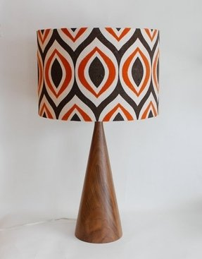 Mid century lamp shade foter lamp shade 14 drum retro modern orange aloadofball Gallery