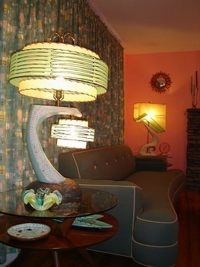 Mid century lamp shade foter lamps couch drapes colors everything screams amazing 1950s continental lamp aloadofball Choice Image