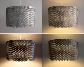 Large Grey Drum Lamp Shade