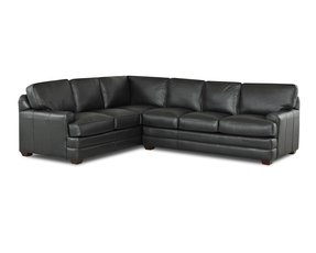 Leather sectional sofa with sleeper 1