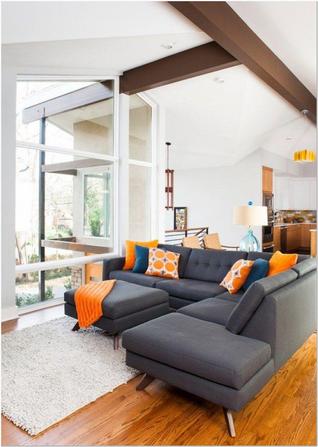 Mid Century Modern Mini Sectional Sofa