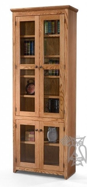 Oak Bookcases With Doors 12