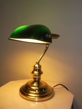 Old fashioned desk lamp
