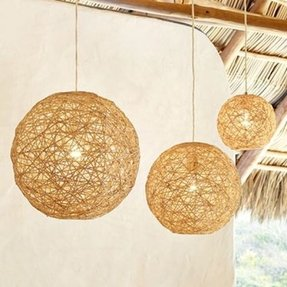 Bamboo pendant lamp foter rattan pendant lamp mozeypictures Images