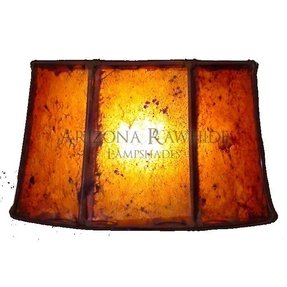 Rawhide lamp shade 2