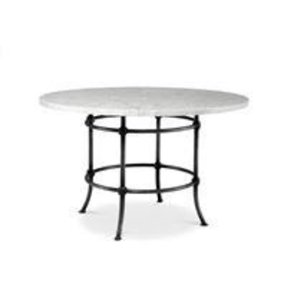 Small round marble dining table