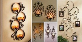The staggered look metal wall candle holder iron candle wall