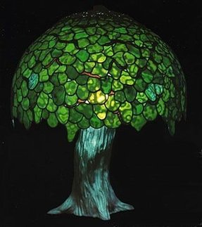 Tiffany style tree lamp 23
