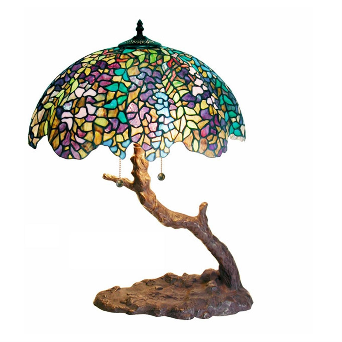 Tiffany Style Tree Lamp