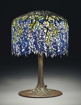 Tiffany style tree lamp 6