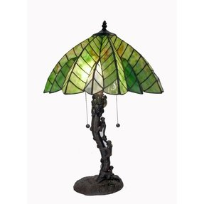 Tiffany style tree table lamp