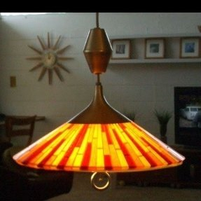 Vintage 1960s Lucite Lamp Moe Vibrant Fiesta Rare Mid Century
