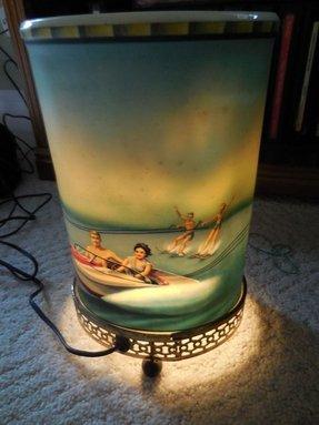 Mid century lamp shade foter vintage fiberglass lamp shade aloadofball Images