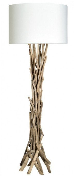 Wood Base Floor Lamp 2