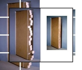 Wooden bookcases with doors 5