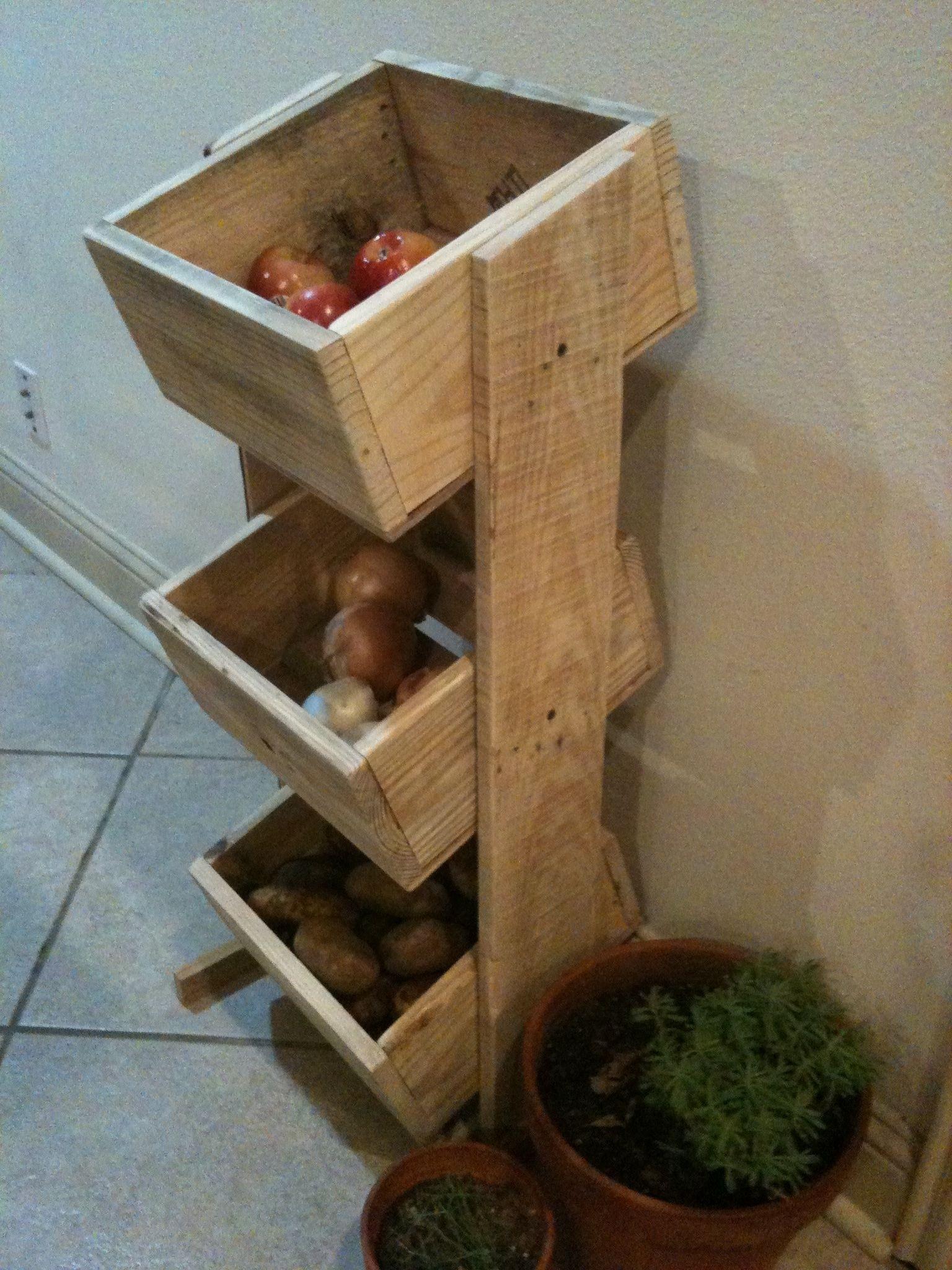 3 Tier Kitchen Basket Stand