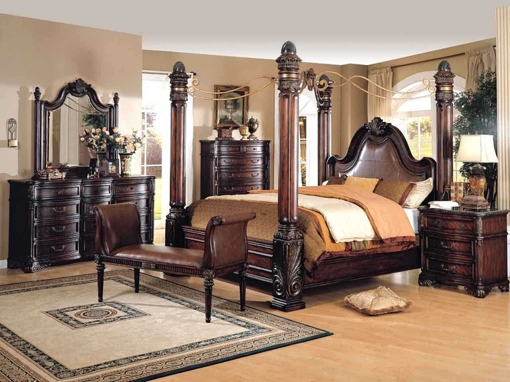 Antique White King Size Bedroom Sets