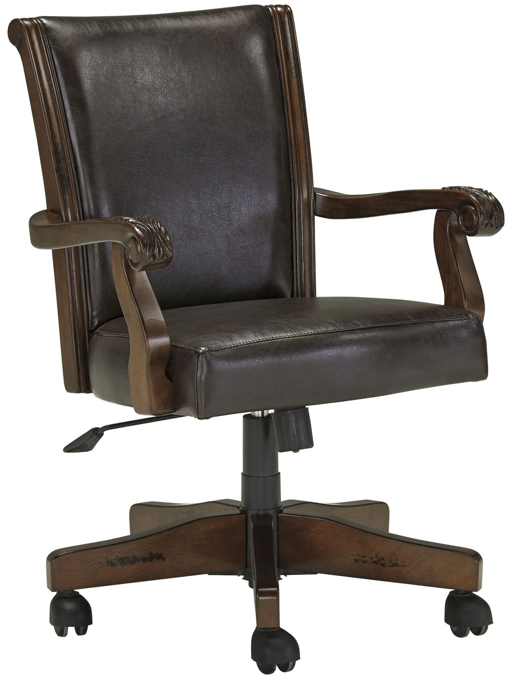 Merveilleux Computer Chairs Wood Grain Finish Home Office Chair Wooden Chairs