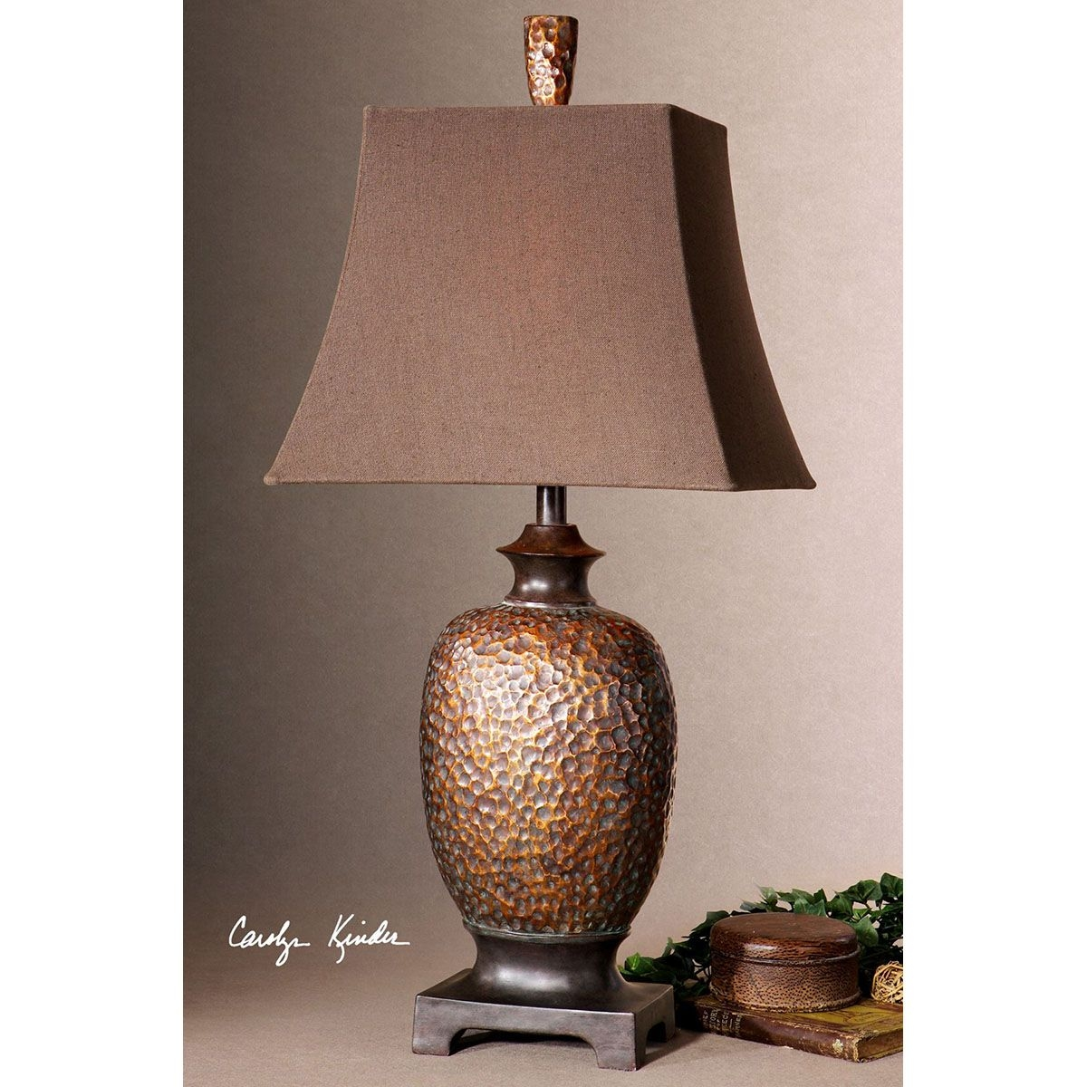 Hammered Copper Lamps 10