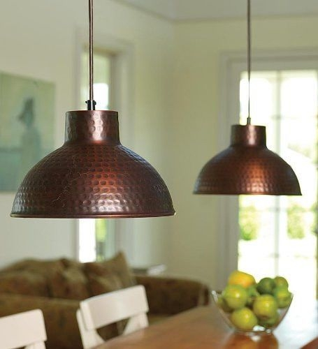 Hammered Copper Lamps