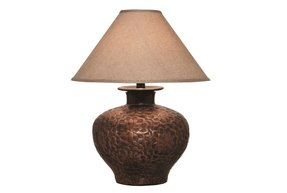 Hammered copper table lamps