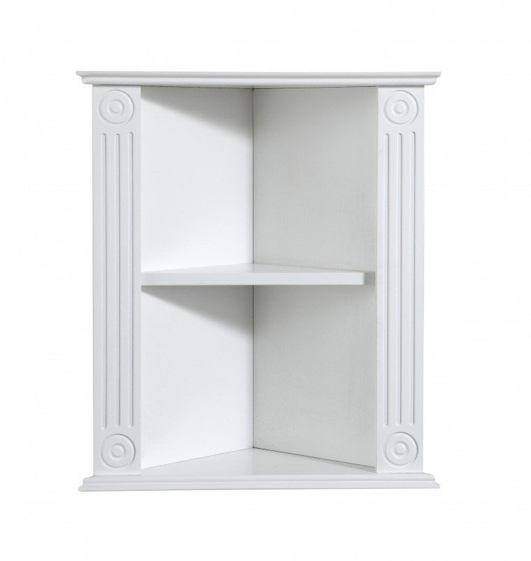 Home Mountrose Athens White Bathroom Corner Wall Shelf Unit 1