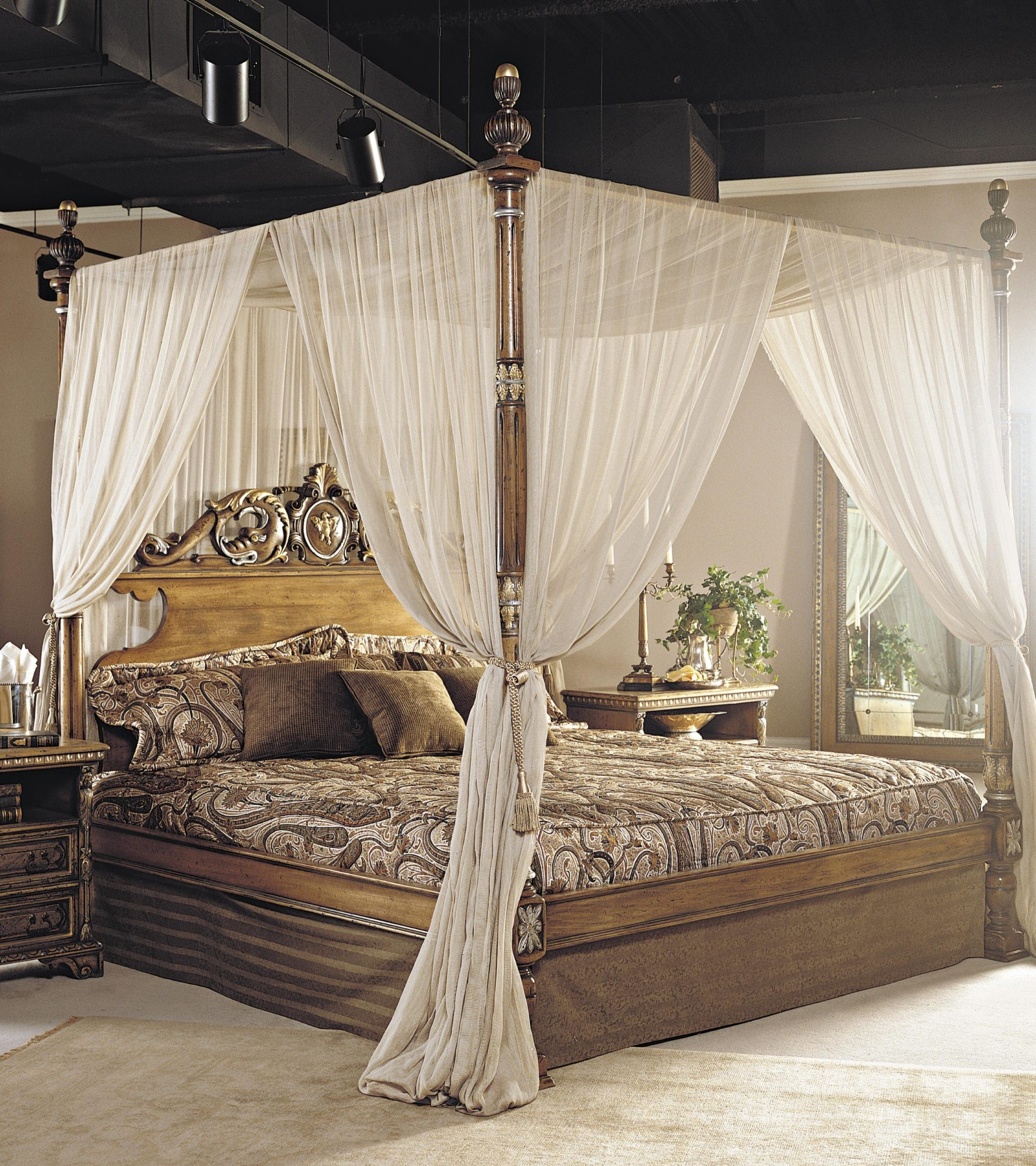 King four poster bed 10 & King Four Poster Bed - Foter