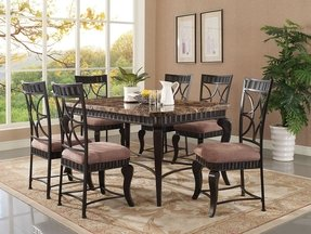 Marble top dining table set 23