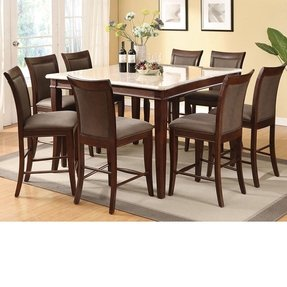 Marble top dining table set 26