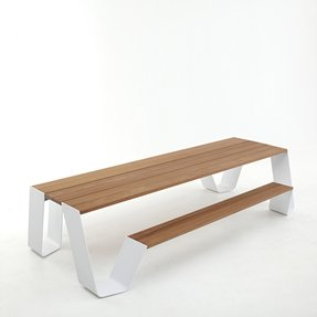 Metal outdoor benches 8