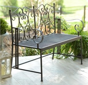Metal outdoor benches 9