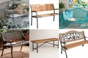 Metal Outdoor Benches