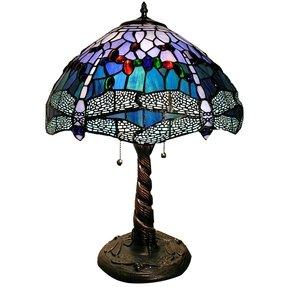 Purple tiffany table lamp foter purple tiffany table lamp 29 aloadofball Choice Image