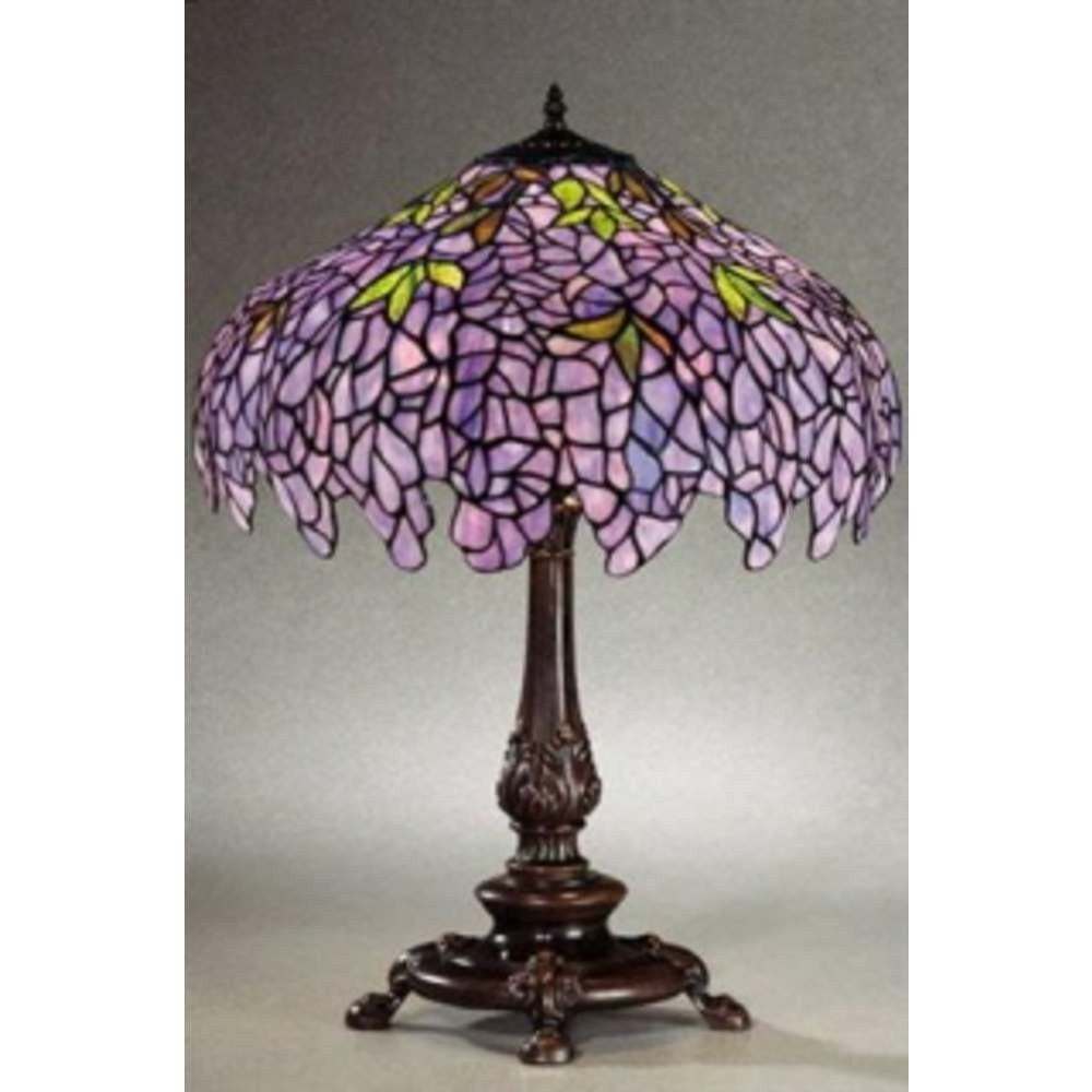 Attrayant Purple Tiffany Table Lamp