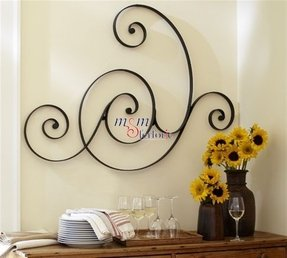 Iron Scroll Wall Art Foter