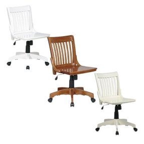 White Wood Desk Chair