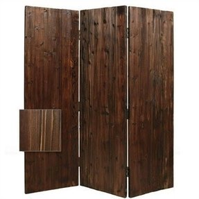 Wooden 3 panel room divider this rustic solid cedar room