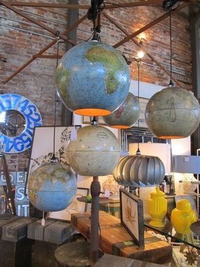 World globe pendant light