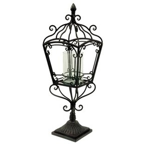 Wrought iron candle 1