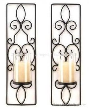 Wrought iron wall candle holder 7