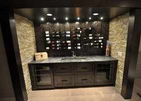 Bar with wine cooler