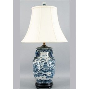 Blue Willow Lamp