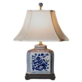 Blue willow lamps