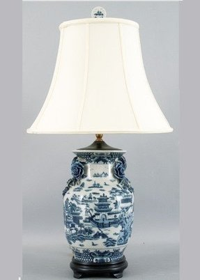 Blue willow table lamp 7