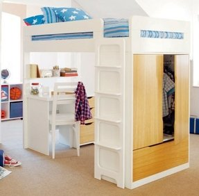 Double Bunk Bed With Desk Foter