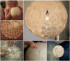 Arts and crafts lamp shades foter artistic and decorative lamp shade to redecorate your room simply hand made lamp shade with crafts can hide the old lamp bulb and create the magic aura aloadofball Image collections