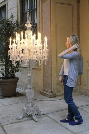 Chandelier floor lamps foter crystal chandelier floor lamps aloadofball Image collections